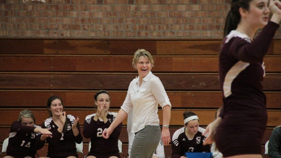 Swain County volleyball coach Sonya Blankenship