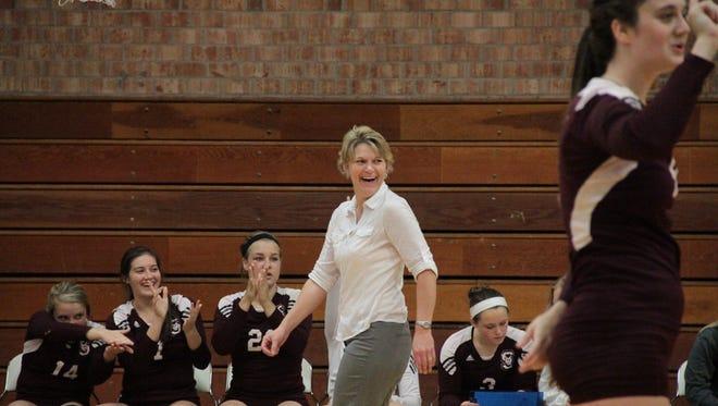Swain County volleyball coach Sonya Blankenship
