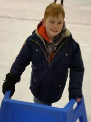 Candon Westervelt is shown ice skating in Elmira in December 2014.