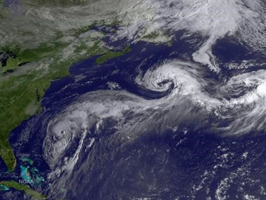 Hurricane Cristobal at 7:45 a.m. Aug. 27 (Source: NOAA Satellites)