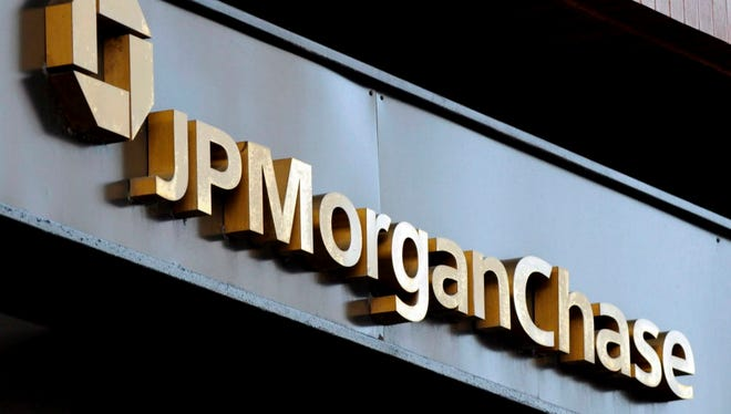 A file photograph dated 17 July 2008 of a sign for JP Morgan Chase bank in New York, New York, USA.