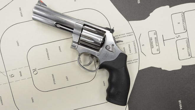 Smith & Wesson reported an adjusted quarterly profit of 66 cents a share.