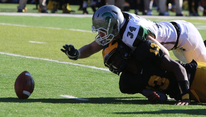 Vinnie DePalma (34) has 166 tackles and 11 rushing touchdowns for DePaul.