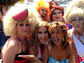 TV personality Hoda Kotb (bottom right) had a blast with a few drag queens while at the beach.