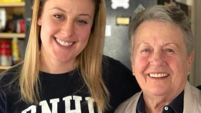 Kaylie Goodwin, left, is seen with her late grandmother, Dorothy Perham. Goodwin is trying to track down seven Harry Potter books her grandmother gave her, but she sold 11 years ago.