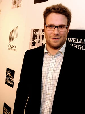 Actor Seth Rogan arrives at An Evening benifiting The L.A. Gay & Lesbian Center at the Beverly Wilshire Hotel on March 21, 2013 in Beverly Hills, Calif.