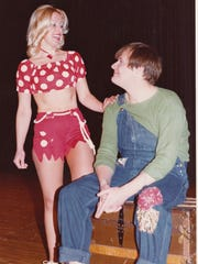 "The North Brunswick Adult Drama Club has staged a musical every winter since 1971.  The productions are funded through the township's Department of Parks, Recreation, and Community Services.  The 1977 production (shown) was ""Li'l Abner,"" starring Tom Schmidt in the title role and Candie Sanchez as Daisy Mae."