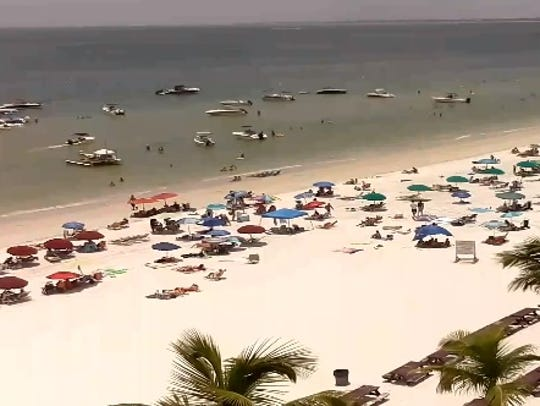 The view from the Lani Kai Island Resort beach cam