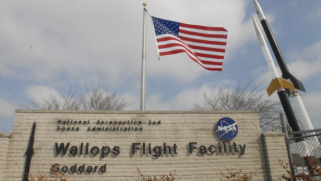 The main gate at the NASA Wallops Flight Facility.