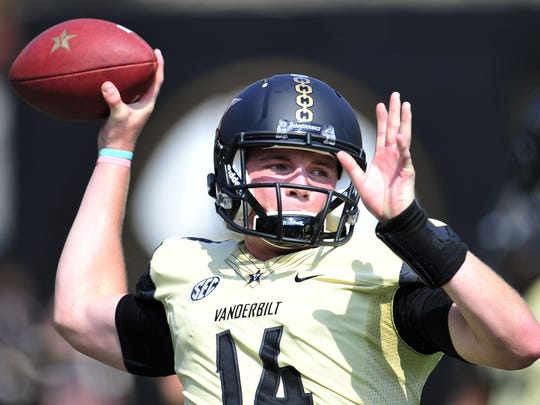 Vanderbilt quarterback Kyle Shurmur started five games as a true freshman.