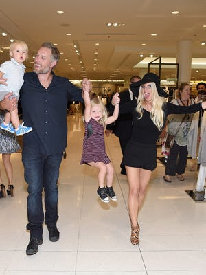 LOS ANGELES, CA - SEPTEMBER 20:  Ace Knute Johnson, Eric Johnson,Jessica Simpson wearing Jessica Simpson Collection and Maxwell Drew Johnson wearing Jessica Simpson Girls attend Jessica Simpson Collection Fashion Show at Nordstrom on September 20, 2014 in Los Angeles, California.  (Photo by Jamie McCarthy/Getty Images for Jessica Simpson Collection) ORG XMIT: 501215587 ORIG FILE ID: 455826702