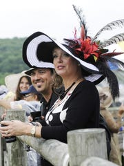 Lance and Alicia Graffam enjoy the annual Iroquois