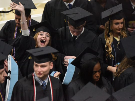 Graduates at Mount St. Mary College's 55th annual commencement
