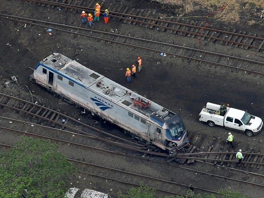 The train's engine was thrown off the tracks.