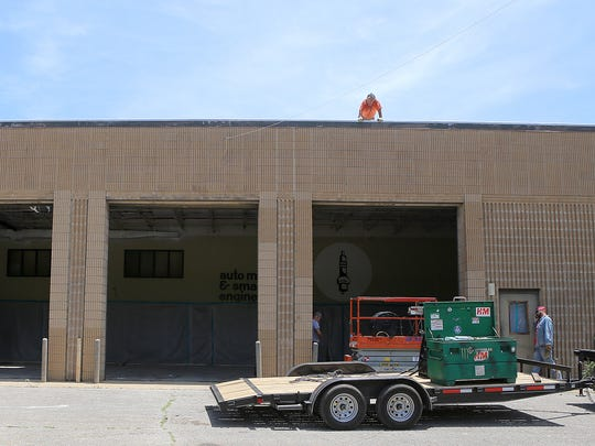 Renovations are seen at Jackson Central-Merry Early College High, the former Jackson Central-Merry annex building, on Thursday, June 9, 2016.