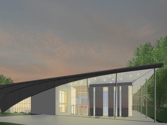 A rendering of the Northeast Regional Library.