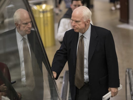 Sen. John McCain, R-Ariz., shown arriving at the Capitol