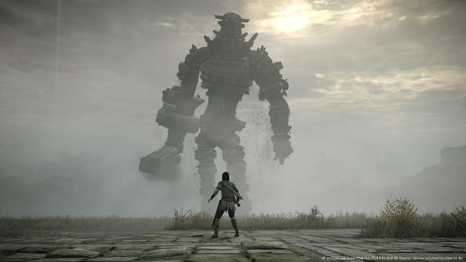 """Shadow of the Colossus"" challenges players to find and defeat 16 Colossi, massive warrior beasts who inhabit the Forbidden Lands."