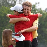 David Toms kisses the Wanamaker Trophy Sunday, Aug. 19, 2001, after winning the PGA Championship in Duluth, Ga. Toms is No. 8 on The Times Top 20 Caddo-Bossier athletes list.