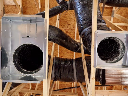Construction home building return air duct plenum hvac