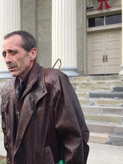 Derek S. Prindle outside Chenango County Court.