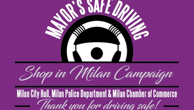 Milan is hosting a Safe Driving and Shop in Milan campaign this holiday season