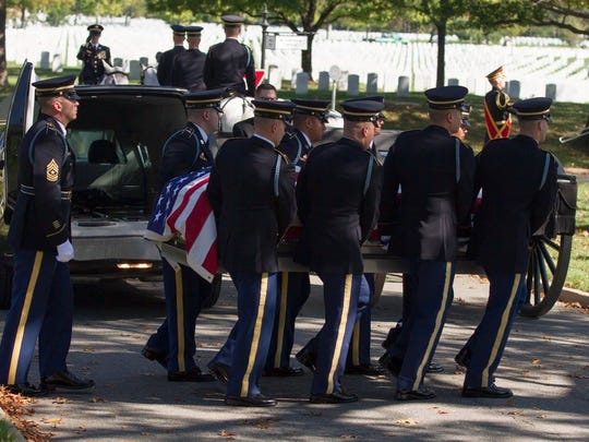 Andrew's burial at Arlington National Cemetery on October 17, 2014.