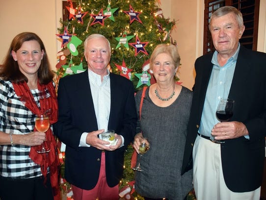 Laura and Bob Culnane, left, with Gene and Dick Bordeau
