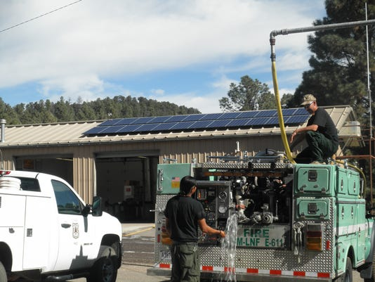 smokey bear ranger district engine bay solar panels