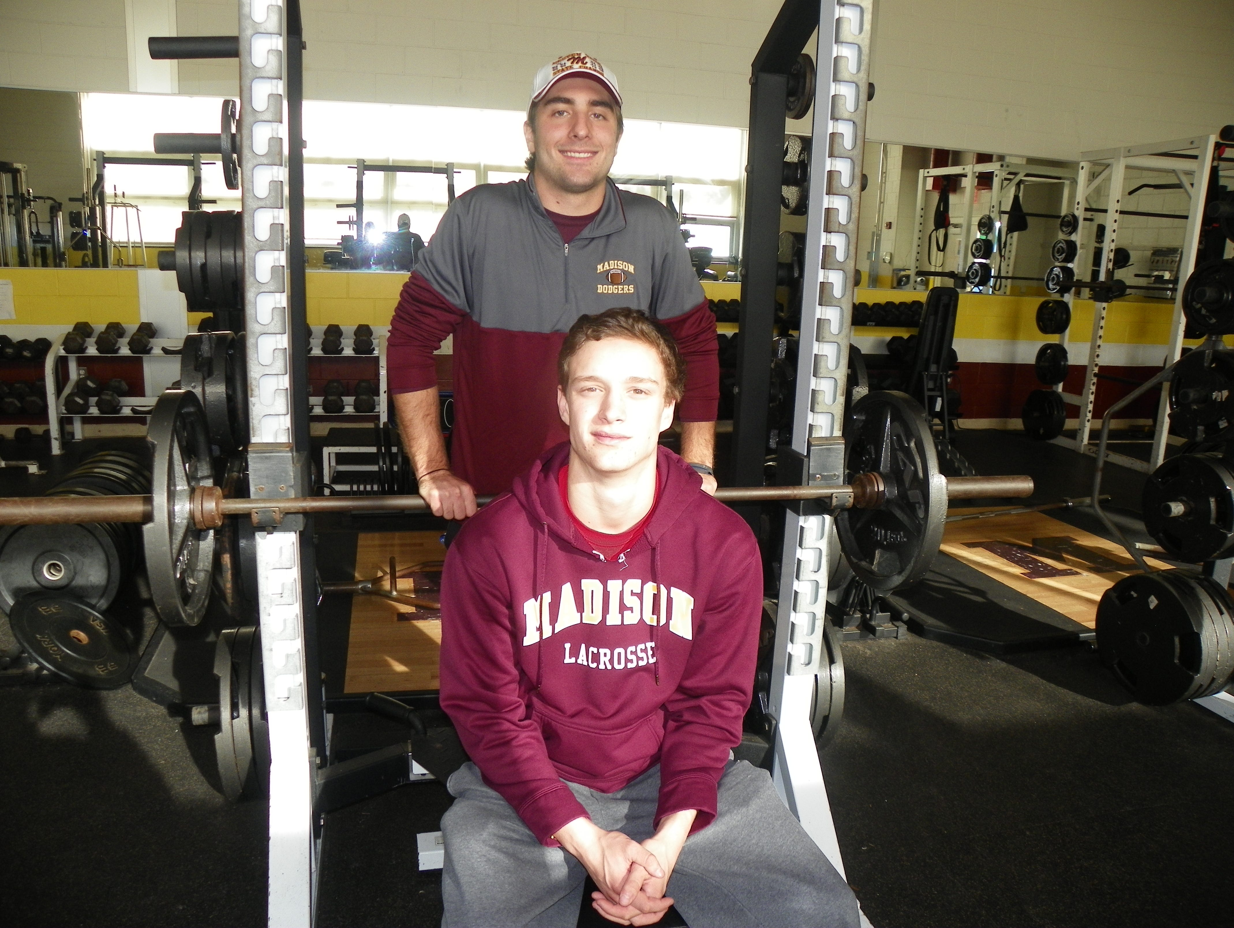 The Dalena cousins, namely Justin (standing) and Mike (seated), have played major roles in Madison reaching the NJSIAA North 2 Group II championship game Thursday at MetLife Stadium.