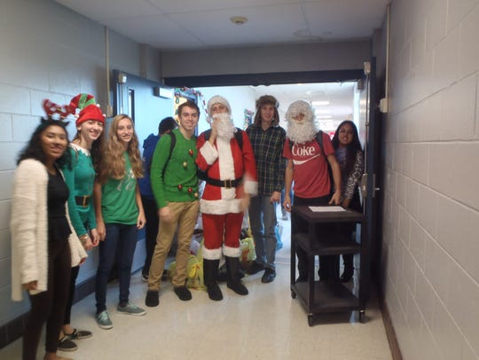 Buena Regional High School students get ready to collect