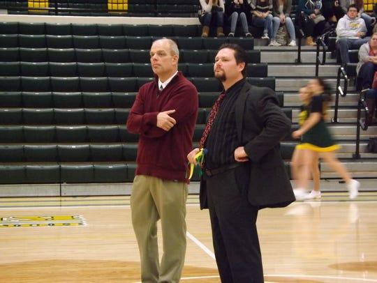 Northeastern High School Principal Wes Wisner (right)