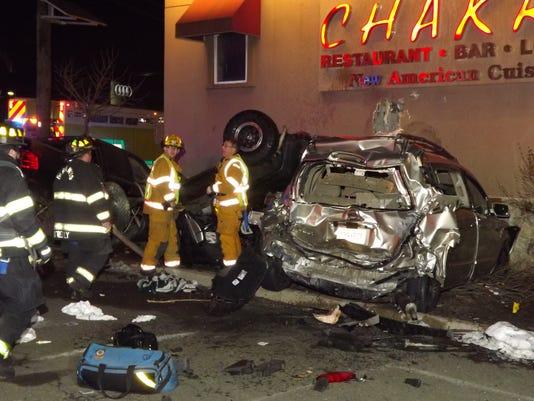 Vehicles crash into Chakra
