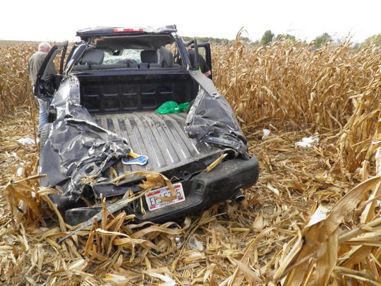 A one-vehicle crash in Wyandot County on Sunday took the life of two people and sent two others to the hospital with serious injuries.