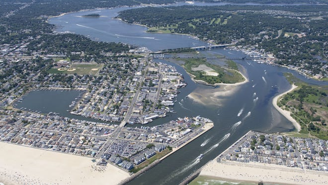 Development along the Manasquan River in 2011. More homes means more runoff pollution into local waters.