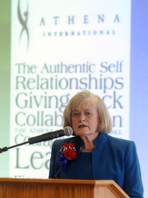 Jan Davies McDermott, a member of the ATHENA International board of directors , spoke during a previous award luncheon. The 2019 ATHENA nominees were announced Monday.