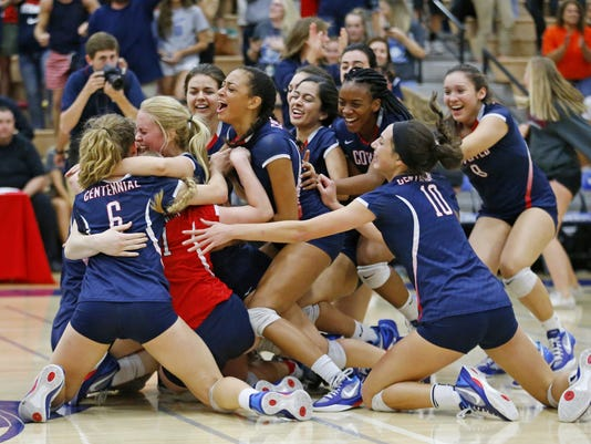 5A Conference volleyball