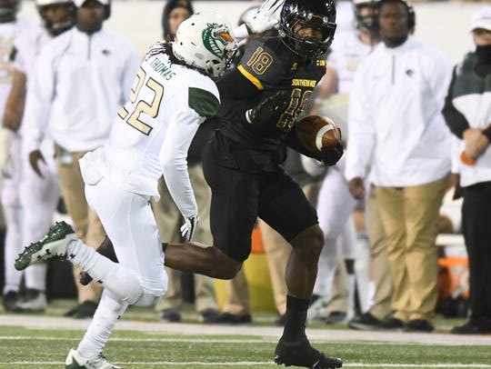 Souther Miss wide receiver Korey Robertson gains extra
