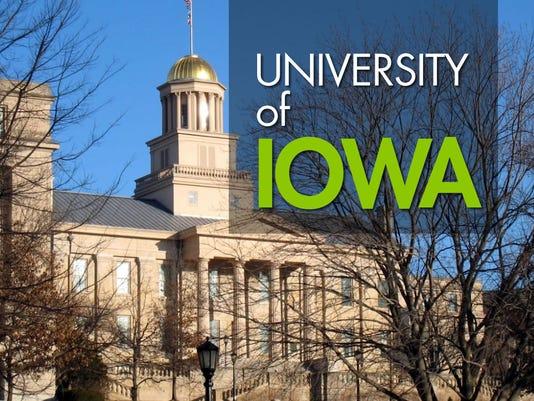 USE -- HORIZONTAL -- University of Iowa logo