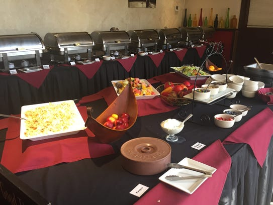 This is part of the brunch setup at Gigi's Italian