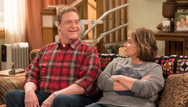 "John Goodman, left, played Dan Conner and Roseanne Barr played his wife, Roseanne Conner, in ""Roseanne,"" which ABC canceled Tuesday after Barr's racist tweet."