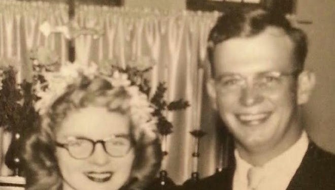 Bonnie and Everett Burkholder married on Jan. 6, 1952, in Taos.