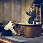 USA TODAY TV critic Robert Bianco offers highlights from the remainder of network TV's May sweeps and the 2014-15 TV season: David Letterman: A Life on Television Monday May 4. CBS, 9:30 ET/PT On May 20, David Letterman will exit from his 'Late Show,' ending a two-network late-night run that stretched for 33 years. CBS salutes that legacy with this 90-minute special, hosted by 'Everybody Loves Raymond' star Ray Romano, whose series was produced by Letterman's company. You can expect a lot of clips and maybe even an appearance by Letterman himself, though if the usually press-shy Letterman is true to form, it will be a brief one. Bill Murray spray-paints Dave's desk on the first taping of the 'Late Show With David Letterman,' Aug. 30, 1993.