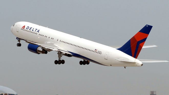 A file photo of a Delta Air Lines Boeing 767 aircraft.