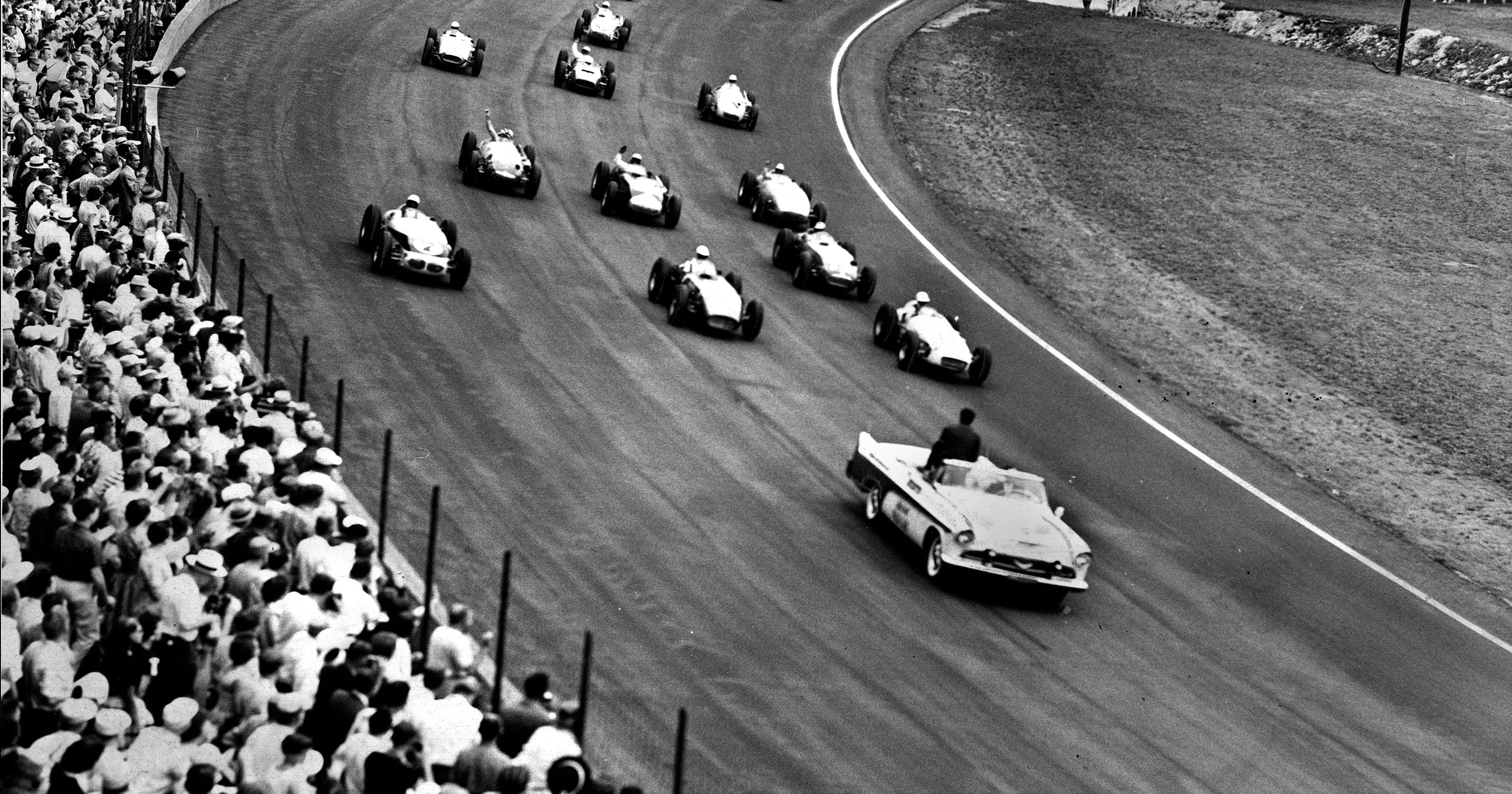Flaherty Wins Soggy USAC Inaugural Indy 500 In 1956