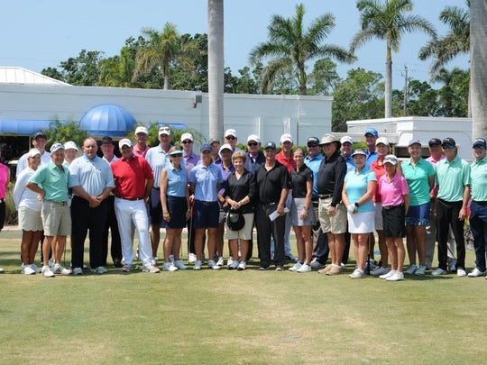 Teams from the Birdie Challenge Cup at The Moorings Country Club.