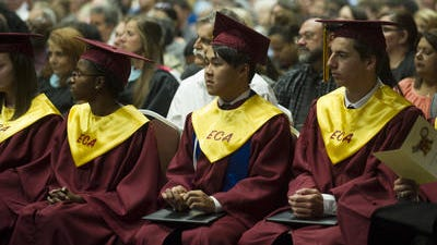 Early College Academy hosts graduation ceremonies at the Cajundome Convention Center in Lafayette, LA, Tuesday, May 13, 2014. The students attended class on the campus of South Louisiana Community College and graduated from the academy with both a high school diploma and associate's degree.