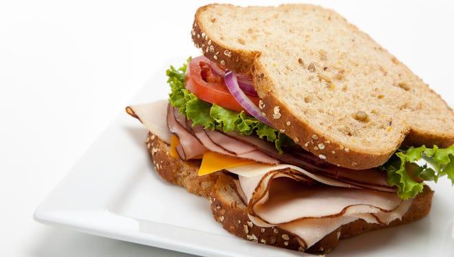 A tasty, delicious sandwich.