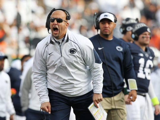 Penn State coach James Franklin is on the hot seat