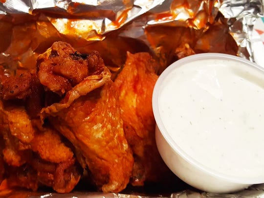 An order of eight wings came with the special. Sauce options for the wings include hot, mild, barbecue, lemon pepper or mango habanero.